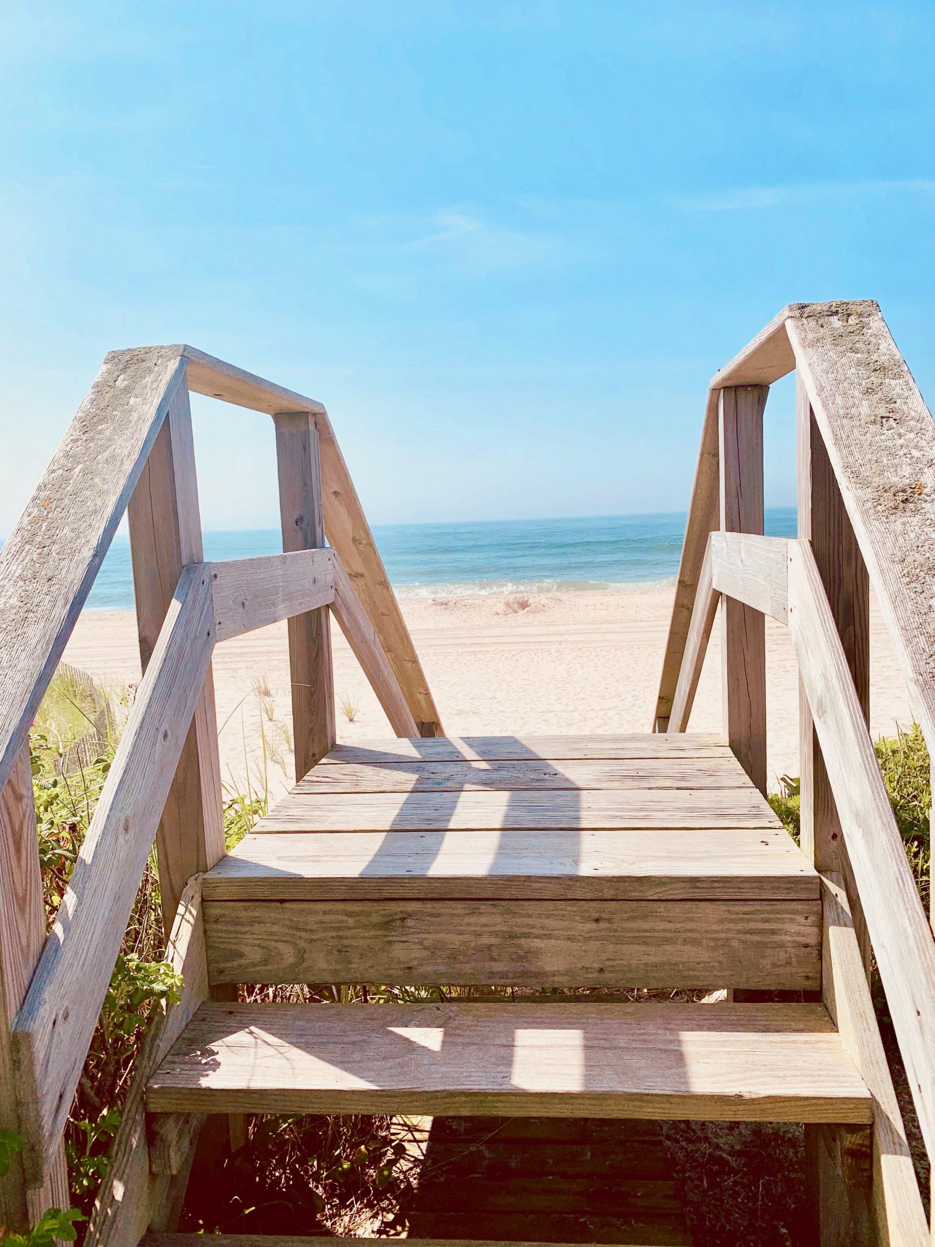 beach walkway in Southampton, a super east coast beach place