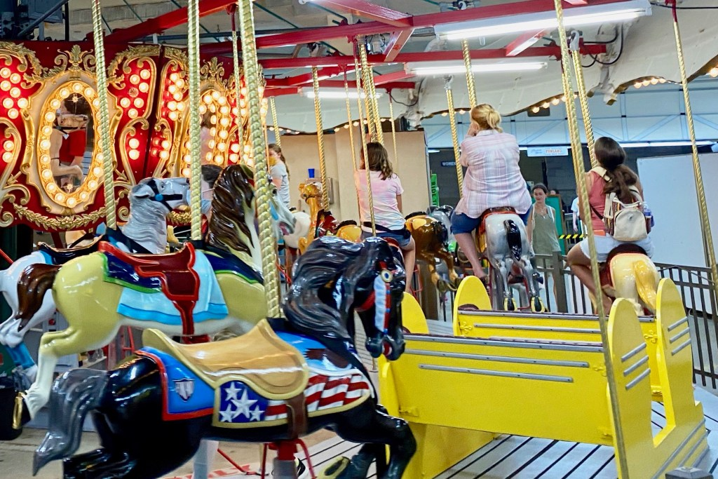 Carousel at Funland, one of the best things to do in Delaware
