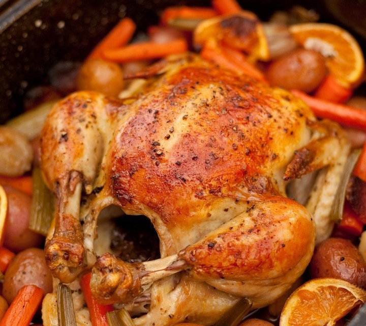 """""""Roasted Apricot Chicken with Herbs de Provence"""" ~ An Organic Kitchen Favorite"""