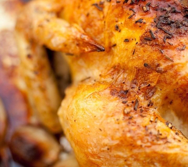 Roasted Lemon/Garlic Chicken with Shallots