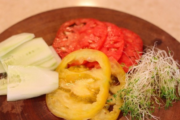 Heirloom Tomato Sandwich from The Organic Kitchen