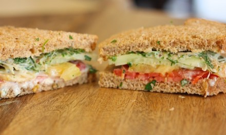The Perfect Lunch ~ Heirloom Tomato and Avocado Sandwich with Creamy Herb Dressing