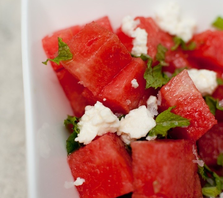 Watermelon Salad with Mint and Feta