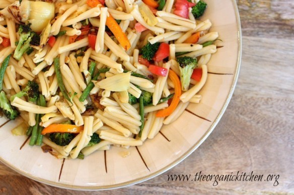 Summer Vegetable Pasta with Salmon