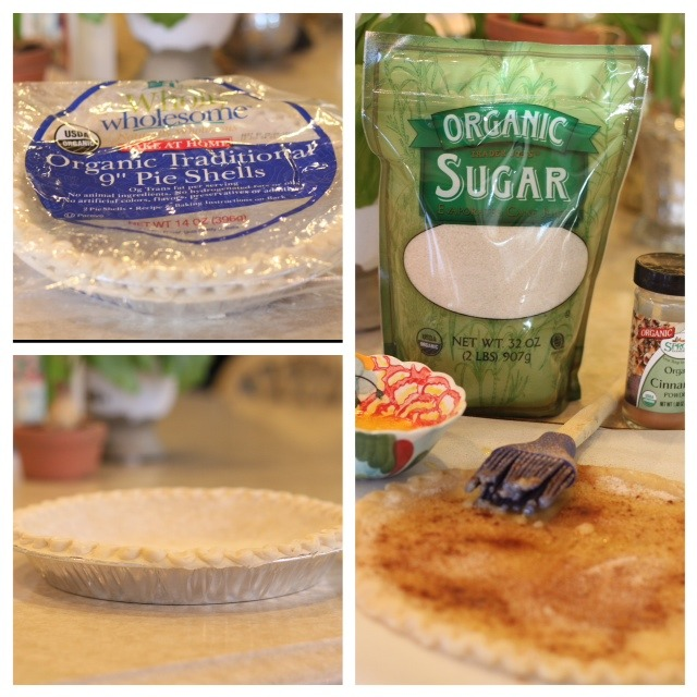 A collage showing how to thaw and bake frozen pie crust