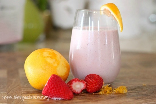 Creamy Dreamy Strawberry Breakfast Smoothie