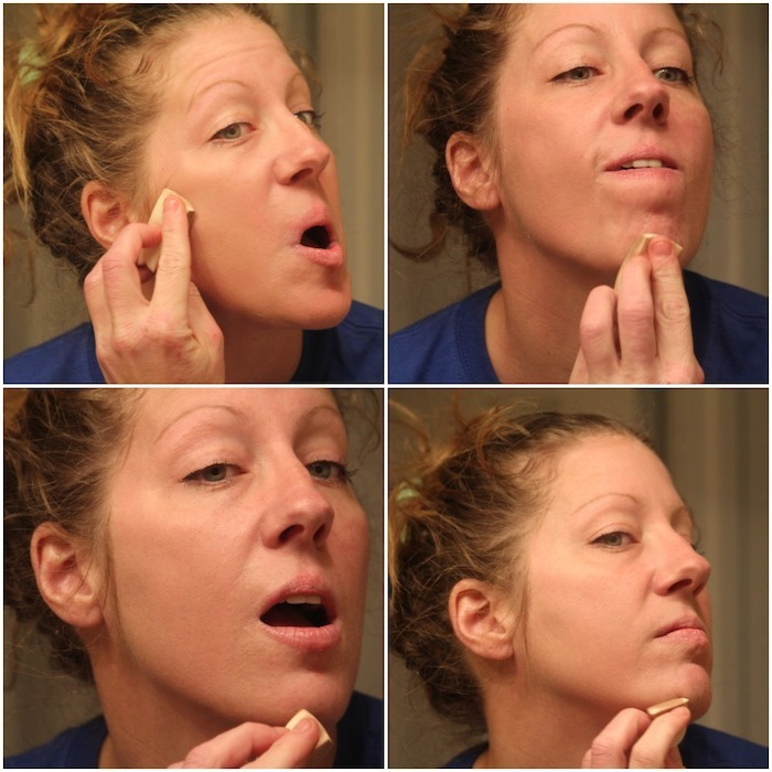 Applying-Foundation-Only-To-One-Side-Of-My-Face-DIY-Smooth-Finish-Foundation-By-Scratch-Mommy.jpg