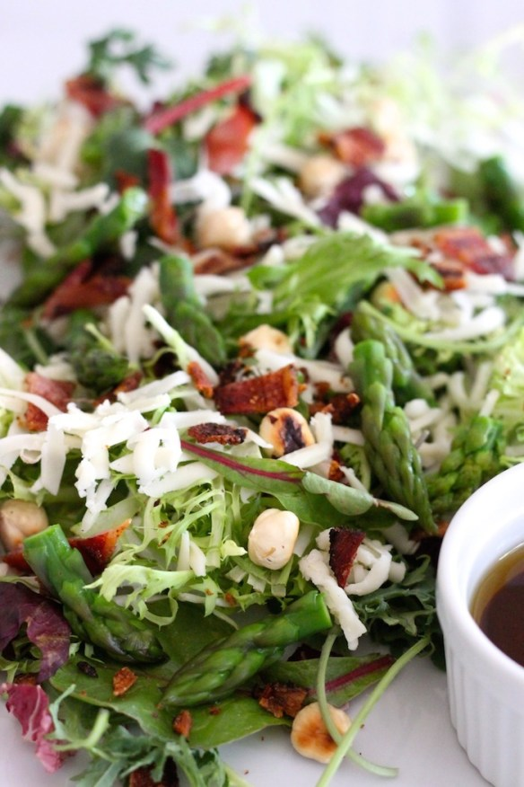 Spring Salad with Honey Chipotle Vinaigrette