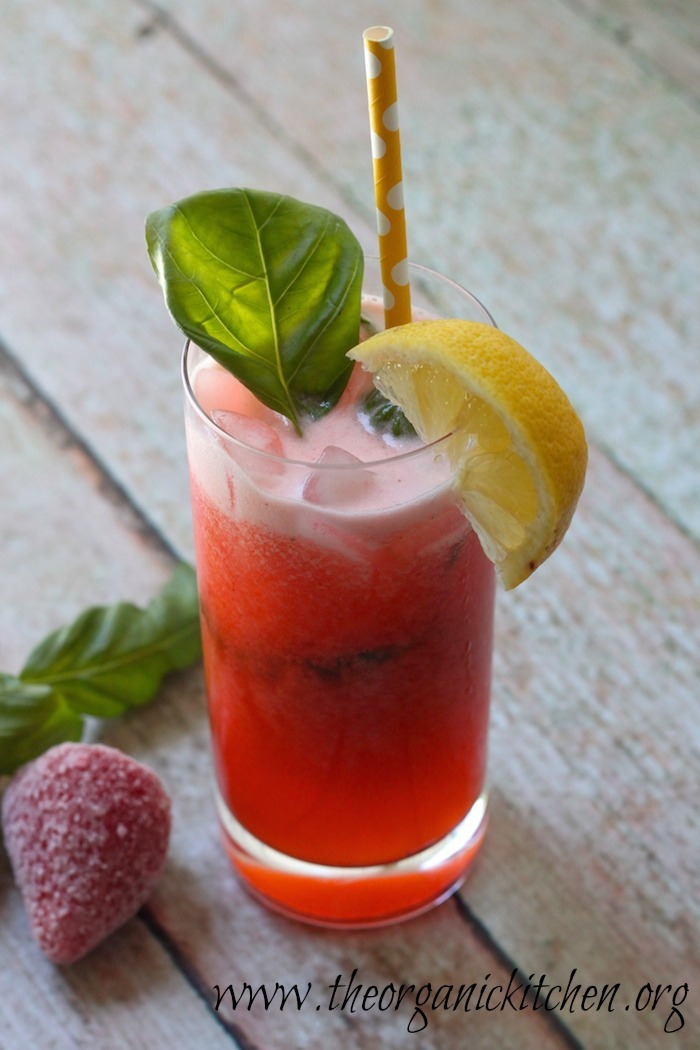 Fresh Strawberry Basil Lemonade