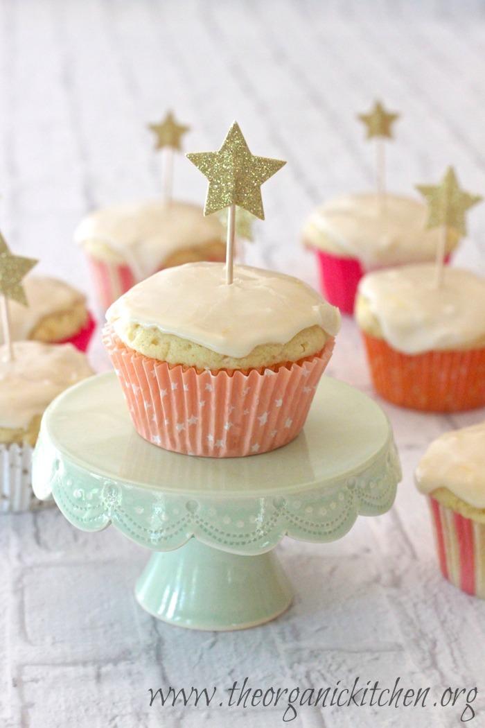 Lemon Zucchini Cupcakes with Lemon Glaze