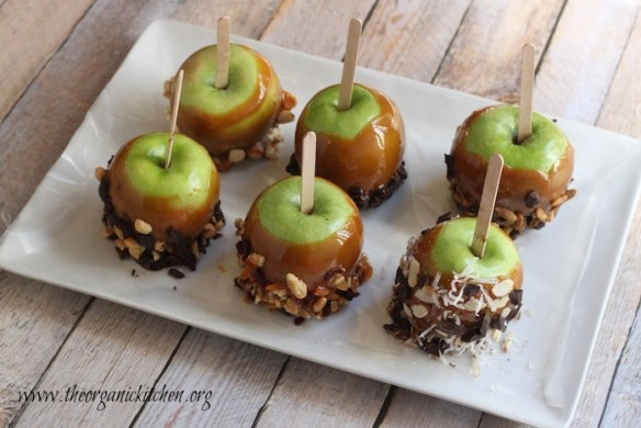 Wickedly delicious caramel apples and toppings from The Organic Kitchen