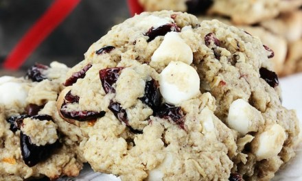 White Chocolate Cranberry Bliss Cookies (with a gluten free option)