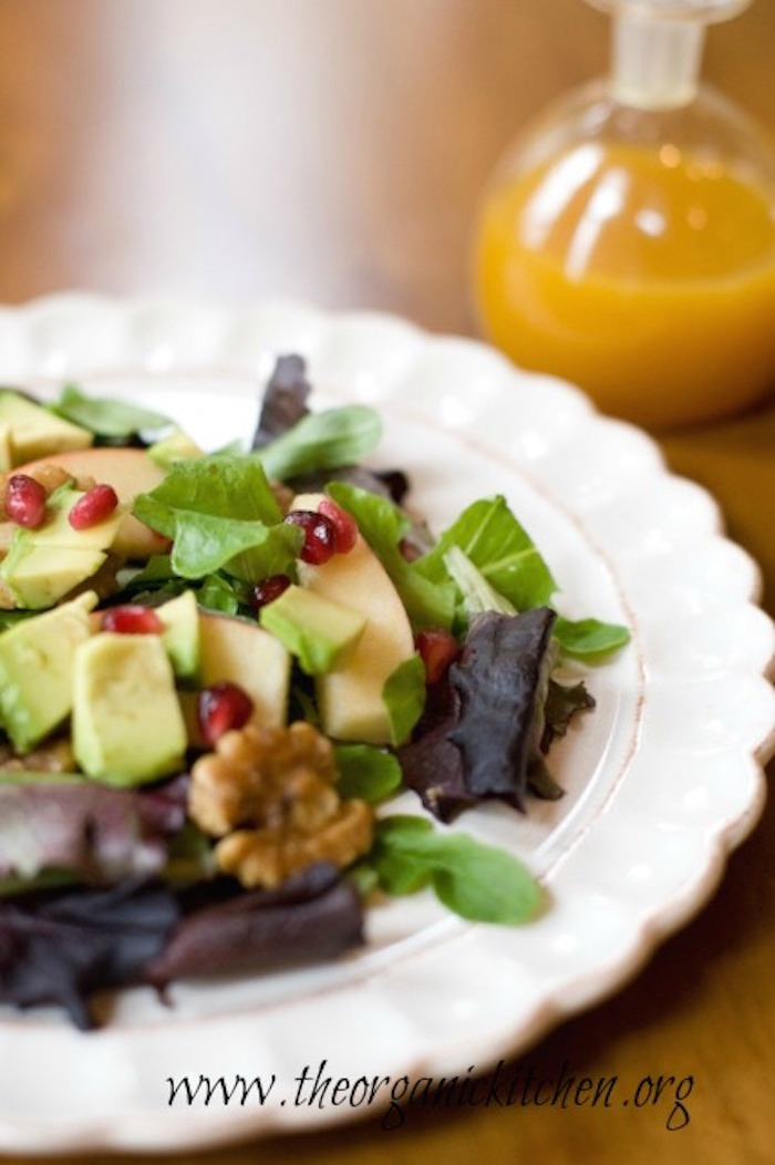 Apple and Avocado Salad with Tangerine Dressing