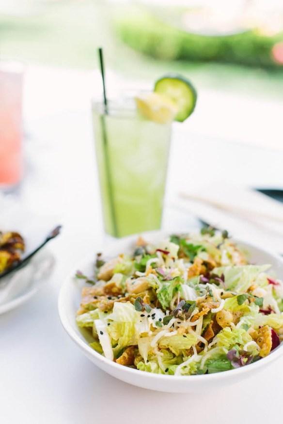 Crispy Chicken Salad with Plum Vinaigrette #chinesechickensalad #plumvinaigrette #choppedchickensalad #asian salad