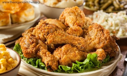Picnic Perfect Oven Finished Fried Chicken with Healthy Fixings