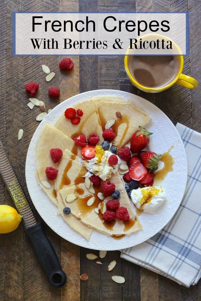 French Crepes with Berries and Ricotta