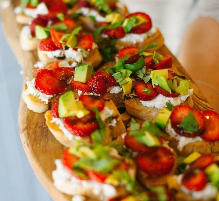 Strawberry and Avocado Bruschetta