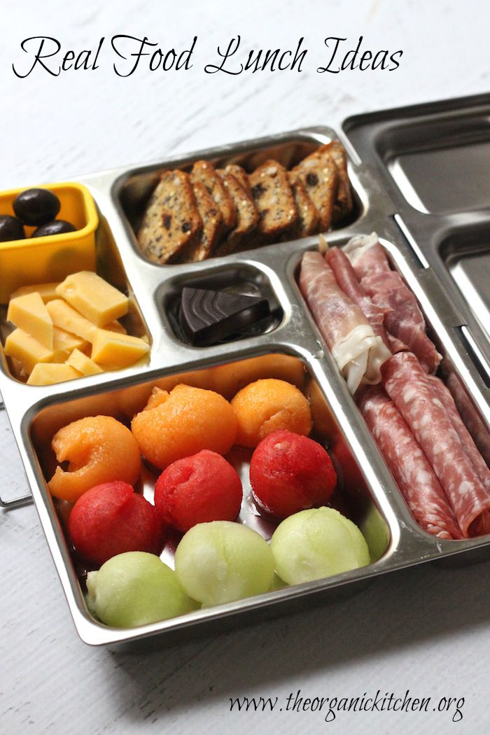 20 Real Food Back To School Lunch Ideas! They're like healthy, homemade lunchables or appetizer platters.