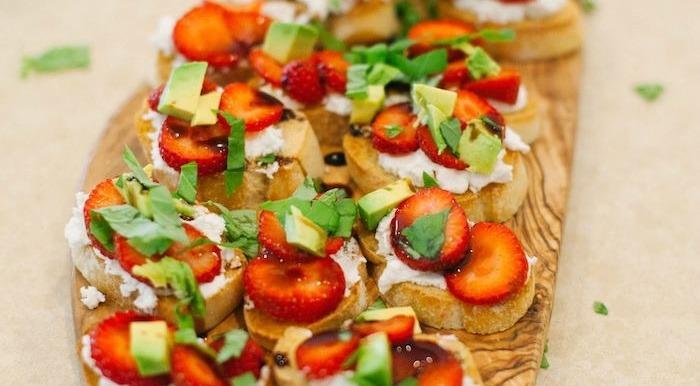 Strawberry and Avocado Bruschetta