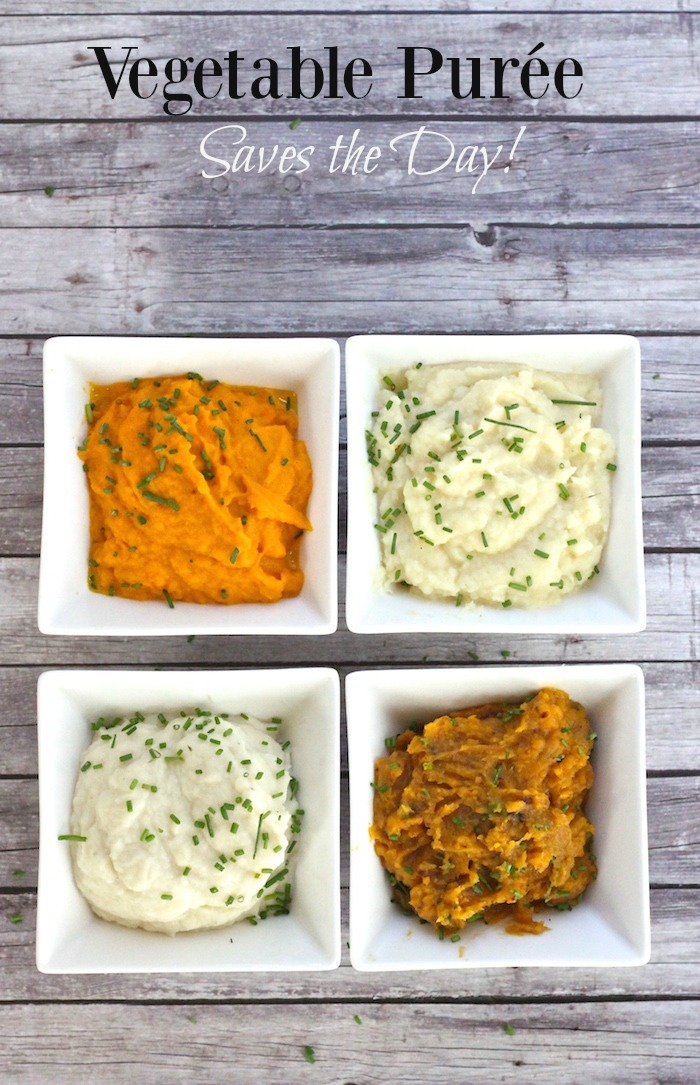 Vegetable Puree is a healthy, easy side dish that adds a little 'fancy' to the plate and if you are on a Paleo/ Whole 30 plan it can create interest and alleviate boredom.