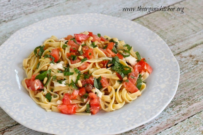 Fettuccine with Tomatoes and Burrata Cheese!