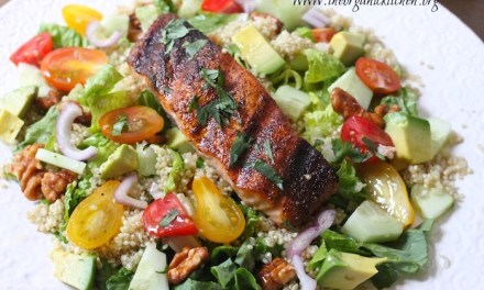 Blackened Salmon and Quinoa Salad with Lime Vinaigrette