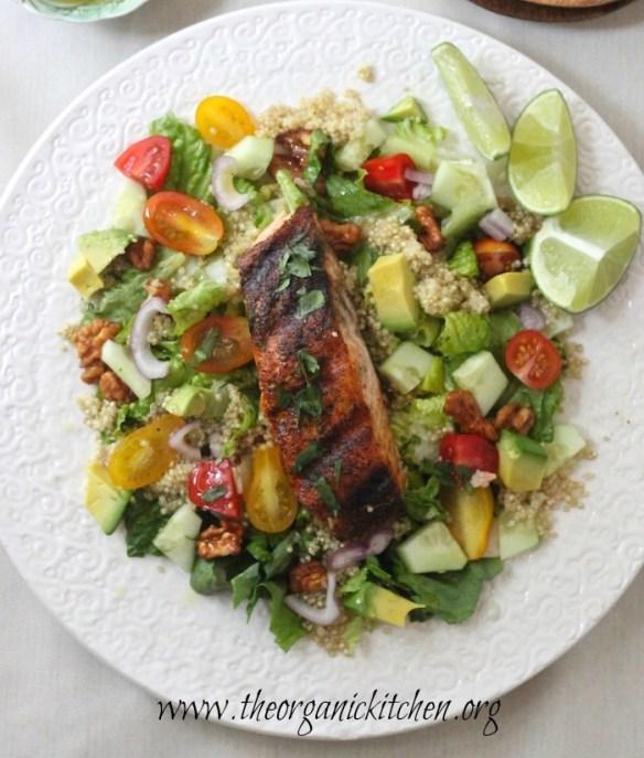 Blackened Salmon Salad with Lime Vinaigrette