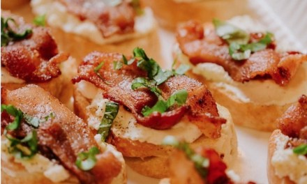 Bacon Ricotta Bruschetta with Fig Jam