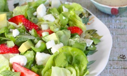 Strawberry Avocado Salad with Lemon Poppyseed Vinaigrette