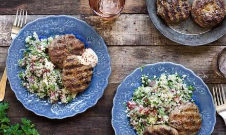 "Spiced Lamb Patties with Cauliflower ""Tabbouleh""!"