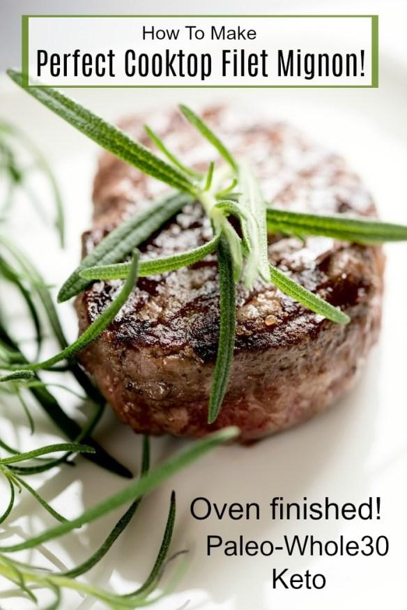 Perfect Cooktop Filet Mignon! #filetmignon #steak #paleo #whole30 #keto