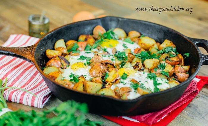 Crispy One Pan Potatoes with Eggs