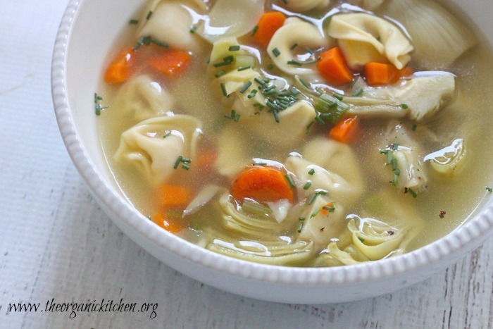 15 Minute Tortellini Soup!
