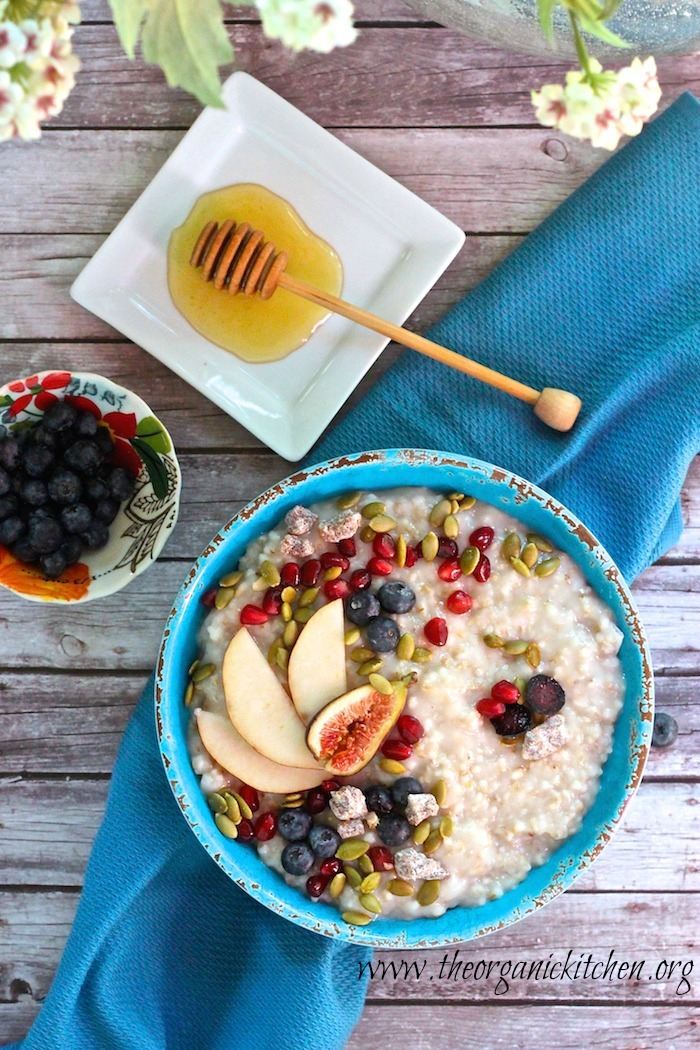 Steel-Cut Oats with Seasonal Fruit