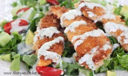 Crispy Fried Chicken Salad with Buttermilk Ranch (Gluten and Dairy Free Options!)