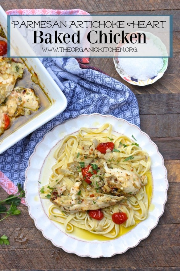 Parmesan and Artichoke Heart Baked Chicken