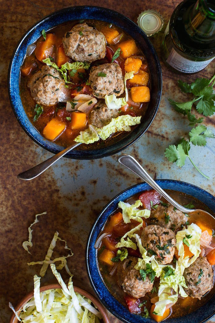 This Mexican meatball soup (Albondigas) is very hearty, quite easy to make and full of flavor - a warming dish for any day of the year!