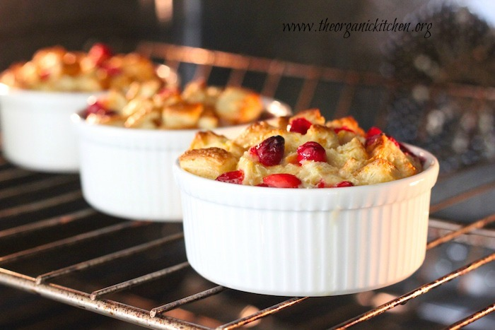 Orange Cranberry Bread Pudding: Made with Croissants