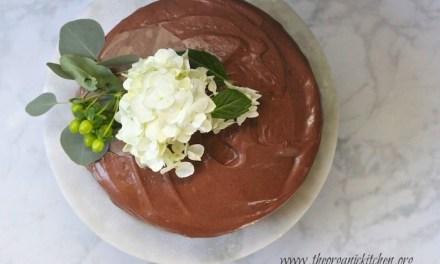 Vanilla Chocolate Chip Cake with Whipped Ganache!