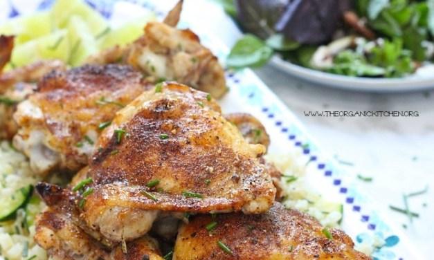 Moroccan Chicken and Cauliflower Rice Platter!