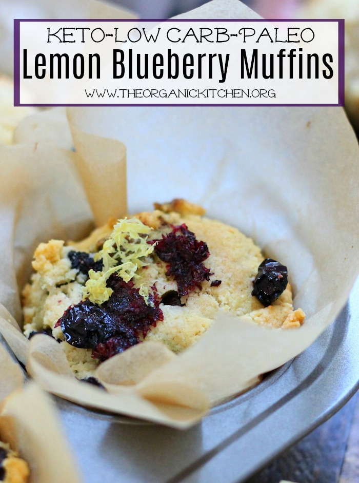 Keto Lemon Blueberry Muffins- #lowcarbmuffins #ketomuffins #lemonblueberrymuffins