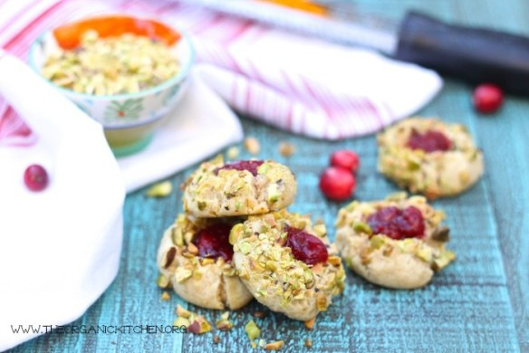 Orange Cranberry Holiday Thumbprint Cookies- Gluten free and grain free option!
