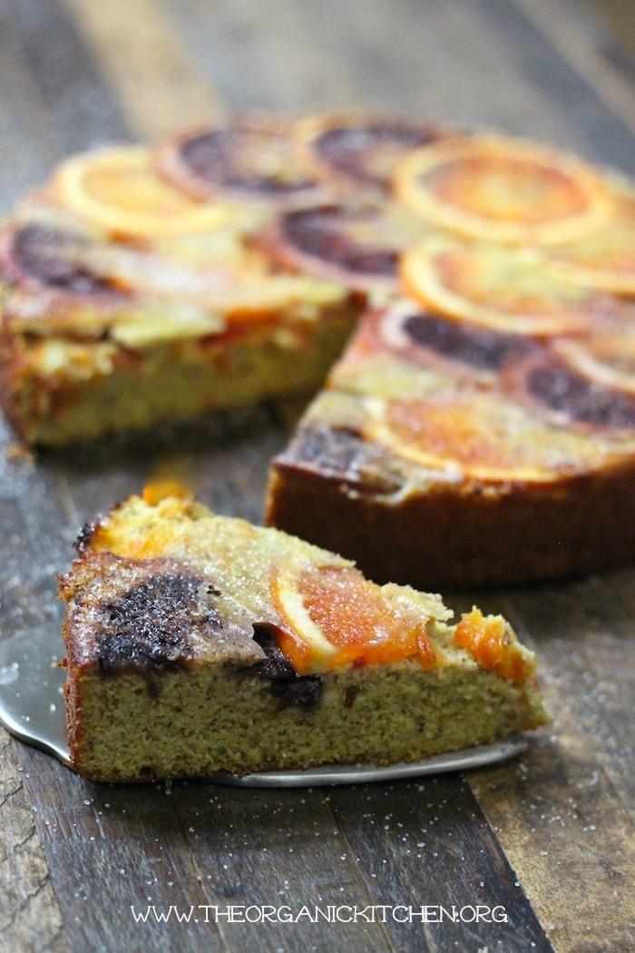 Upside Down Orange Almond Cake #orangealmondcake #bloodoranges #grainfree #dairyfree #lowcarb