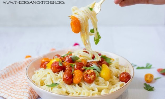 Pasta with Blistered Tomatoes and Ricotta