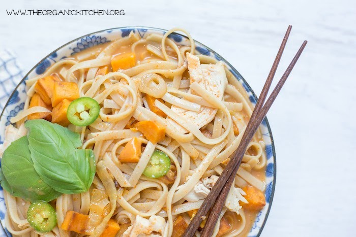 Chicken and Sweet Potato Asian Noodle Soup
