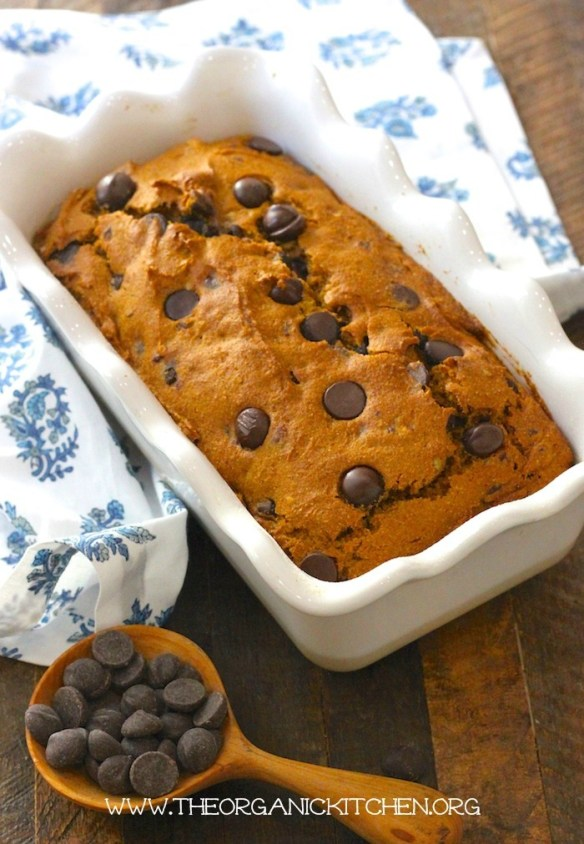 Chocolate Chip Pumpkin Pecan Bread (Gluten free option) #pumpkinbread #glutenfree #chocolatepumpkinbread #glutenfreepumpkinbread