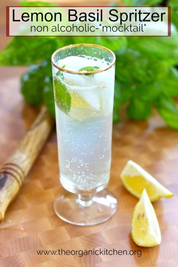 "Lemon Basil Spritzer~ Non Alcoholic ""Mocktail"" #lemonbasilspritzer #nonalcoholic #mocktail #keto #holidaydrinks"