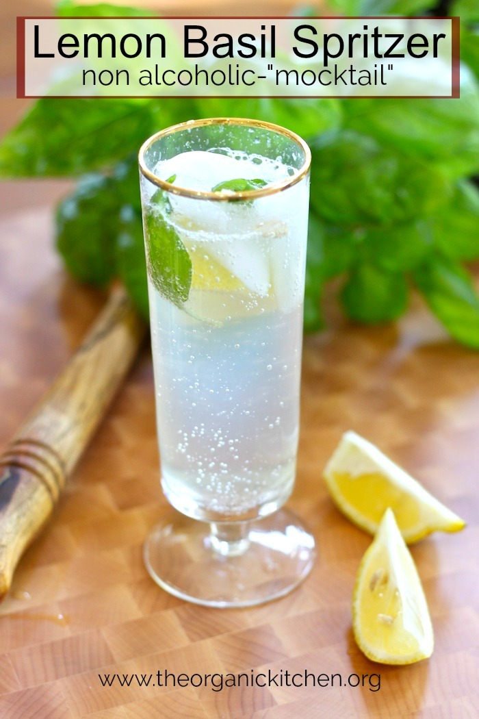 "Lemon Basil Spritzer~ Non Alcoholic ""Mocktail"" #lemonbasilspritzer #nonalcoholic #mocktail #keto #holidaydrinks"