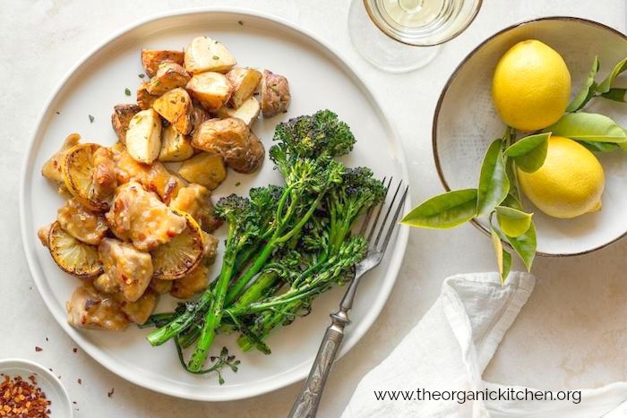 Lemon Chicken with Roasted Potatoes