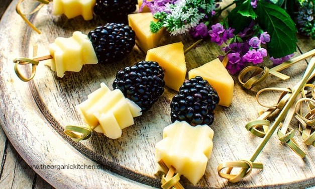 Blackberry Aged Cheese Skewers